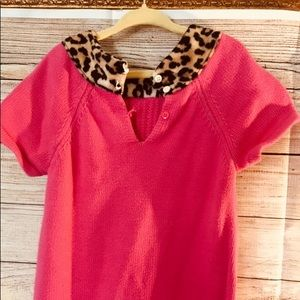 EGUC Pink Knitted Midi Dress